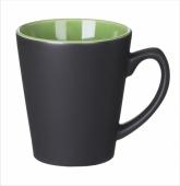 Kubek V-Shape czarno zielony