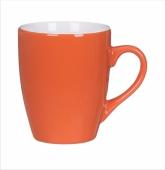 Kubek KULT LINE pomarańczowo-biały