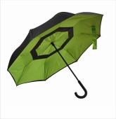 Parasol REVERSED czarno-zielony