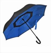 Parasol REVERSED czarno-niebieski