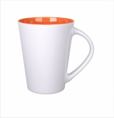 Kubek Izzy biało/pomarańczowy