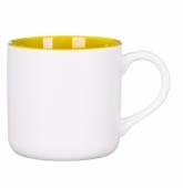Kubek KING biało - żółty