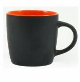 Kubek DURAN czarno - pomarańczowy