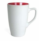 Kubek QUEEN biało - czerwony