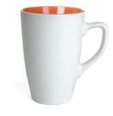 Kubek QUEEN biało - pomarańczowy