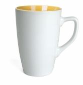Kubek QUEEN biało - żółty