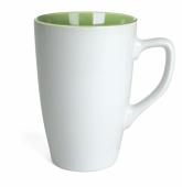 Kubek QUEEN biało - zielony