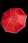 Parasol czerwony z białą lamówką