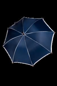 Parasol granatowy z białą lamówką
