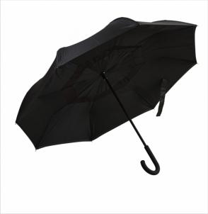 Parasol REVERSED czarno-czarny