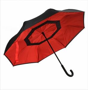 Parasol REVERSED czarno-czerwony