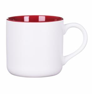 Kubek KING biało - czerwony